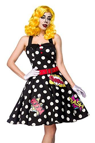 Atixo Pop Art Girl Kostümset - schwarz/weiß/rot, Größe Atixo:M