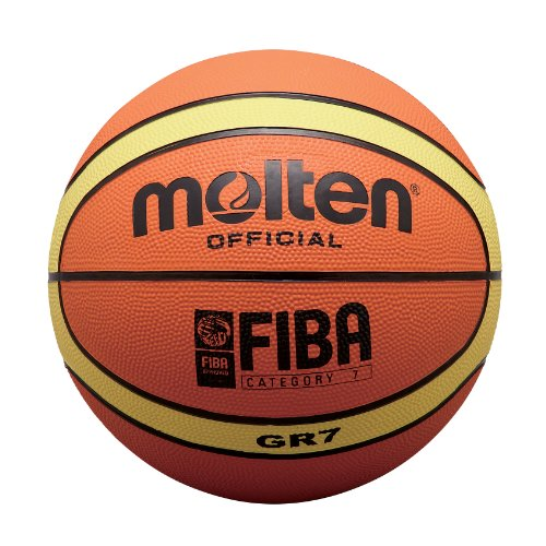 Molten Men's Basket Ball-Orange/Beige, Size 7