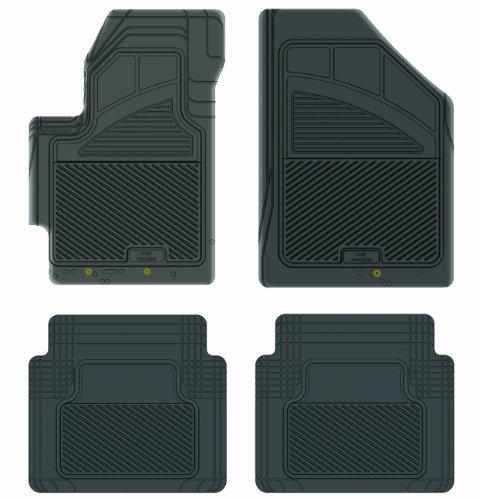 Koolatron Pants Saver Custom Fit 4 Piece All Weather Car Mat for Select Hyundai Accent Models (Black)
