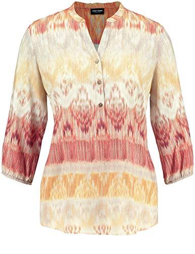 Gerry Weber Damen Spice Bazaar 560040-31680 Bluse, Mehrfarbig (Kitt/Ziegel/Senf Druck 9161), 48