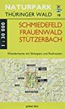 Wanderkarte Schmiedefeld/Frauenwald/Stützerbach: Mit Ilmenau, Manebach, Neustadt, Vesser. Mit Skiloipen und Radrouten. Maßstab 1:30.000.: Wanderkarte ... Thüringer Wald: Wanderkarten. 1:30.000)
