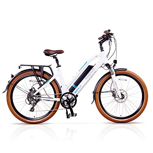 Magnum Metro Low Step Premium Electric Hybrid Bike - 500W Motor, Large Capacity 48V13A Lithium...