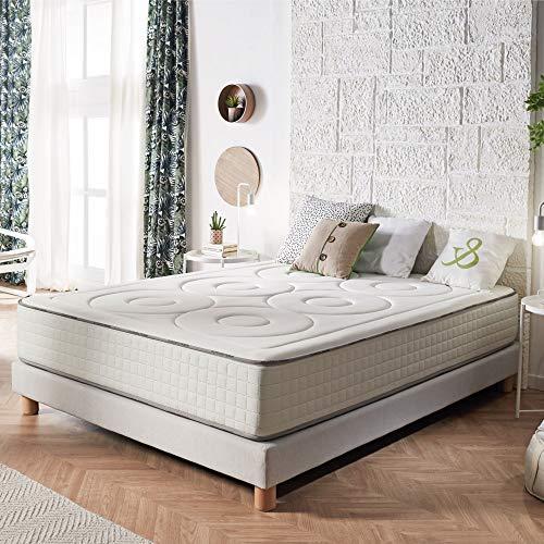 Naturalex | Memory S | Colchón 160x200 Cm Gama Premium | Máximo Confort Sistema AirPlus Multicapas | Doble Cara Viscoelástica | Firmeza Ideal | Hipoalergénico | Plus Zonas de Confort | Reversible