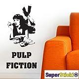 SUPERSTICKI® Pulp Fiction - Adhesivo decorativo para pared (40 x 80 cm, resistente a los rayos UV y a los túneles de lavado)