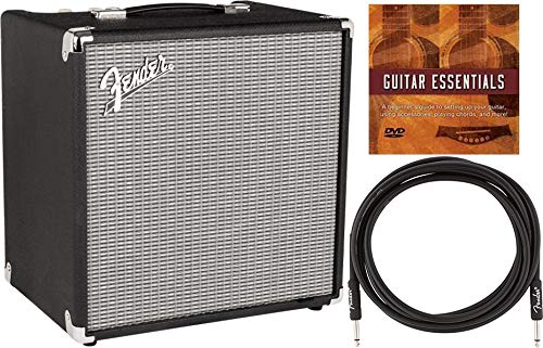 Fender Rumble 40 V3 1X10' 40W Bass Combo Amplifier Bundle with Fender Instrument Cable and Austin Bazaar Instructional DVD