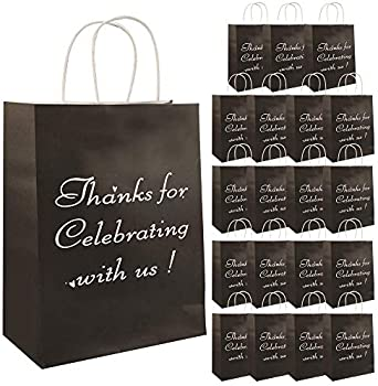 20-Pack Vadeture Thank You Paper Gift Bags with Sturdy Handles
