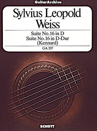 Suite Nr. 16 in D-Dur: Gitarre. (Gitarren-Archiv)