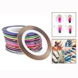 Itian 30pcs Nail Sticker DIY - Cinta de Uñas de Línea Cinta Adhesiva de Uñas para Decoración de Arte de Uñas