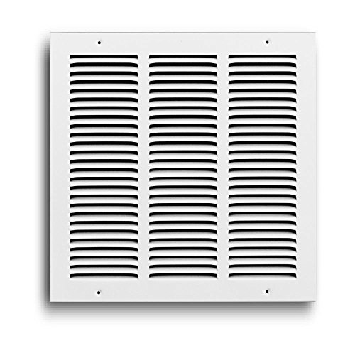 """Rocky Mountain Goods Air Return Grille - Heavy Duty Steel with Premium Finish - Includes Full Installation kit - Louvered Design - Paintable Vent Cover - Matte White - Consistent air Flow (12"""" x 12"""")"""