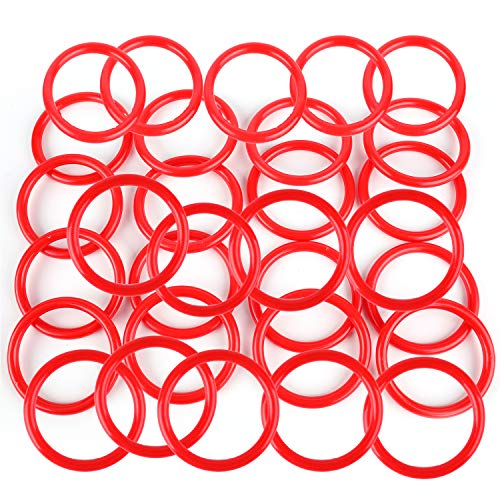 Faswin 50 Pack Plastic Carnival Rings 2.5 Inch Toss Rings Fun Target Toys for Kids Ring Toss Game, Speed and Agility Training Games, Carnival Garden Backyard Outdoor Games, Game Booth