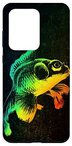 Galaxy S20 Ultra BLACK MOOR GOLDFISH Colorful Rainbow Vintage Retro Phone Case