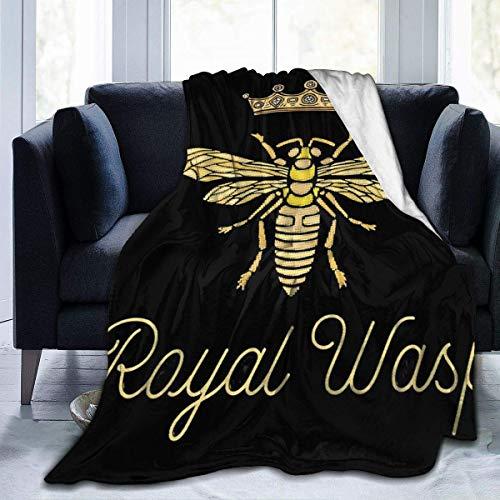 Manta de Felpa King Bee Insect Birds Alfombra de Lana cálida Sofá de Dormitorio S Alfombrilla de Dormir de Doble Cara Alfombrilla de Franela para otoño