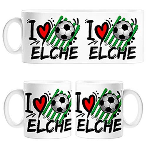 Diver Tazas Taza I Love Elche fútbol - Cerámica