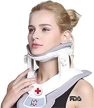 Cervical Neck Traction Device - Neck Massager & Collar & Brace - Neck & Shoulder Pain Relief - Stretcher Collar for Travel/Home Improved Spine Alignment