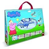 Multiprint Stamp Splash Peppa Pig, Set Sellos de Agua 100% Made in Italy, Pizarra de Tela, Marcador de Agua, Set Sellos Niños Persolanizados, en Madera y Caucho Natural, Idea de Regalo, Art. 45875