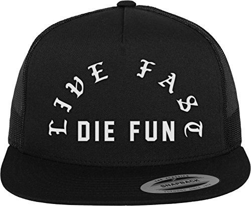 Famous Stars and Straps Live Fast Die Fun Trucker Cap, Black, One Size