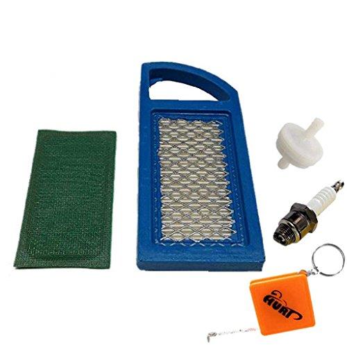 HURI Luftfilter Zündkerze Benzinfilter für Briggs & Stratton OHV 10-13,5 HP 698413 697775 797007, 298090, Champion RJ19LM