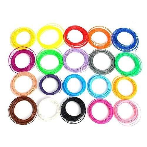 3D Ideas Plastic 3D Pen PLA Filament 20 in 1, Each 5m (Multicolour)