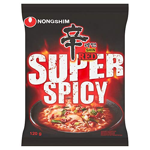 Nong Shim Instantnudeln Red Shin Ramyun / Koreanische Instant Noodles Suppe sehr scharf - schnelle Zubereitung / 1 x 120 g