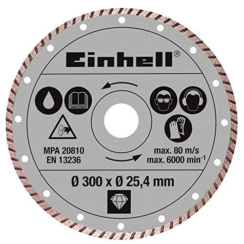 Original Einhell Diamant-Trennscheibe (Steintrennmaschinen-Zubehör, Durchmesser: Ø 300 x 25,4 mm, für Fliesen, Klinker und Naturstein)