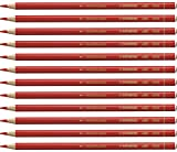 Buntstift für fast alle Oberflächen - STABILO All - 12er Pack - rot