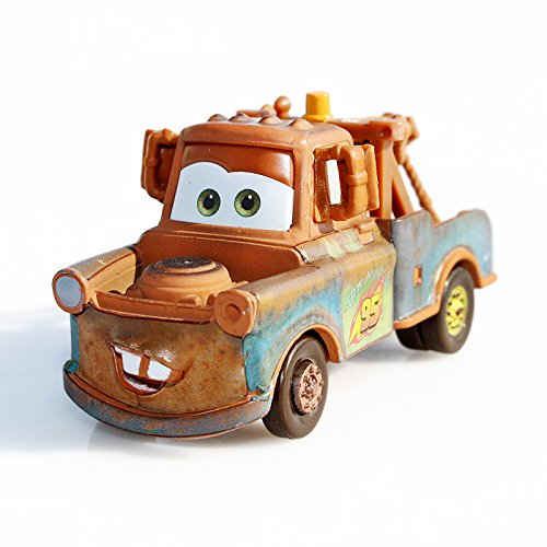 FEIYI Pixar Cars 2 Race Team Mater Metal Diecast alloy classic Toy Car model for children gift 1:55 Brand toys New In Stock (Color : Mater)