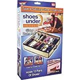 Telebrands Shoes Under Space-Saving Shoe Organizer