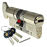 50/50 (100mm) Nickel YALE Platinum 3 Star Euro Cylinder Thumbturn Anti Snap Bump uPVC Door Barrel Lock