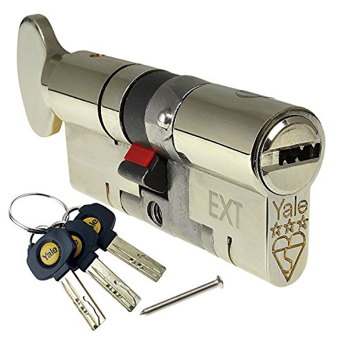 45/50 (95mm) Nickel YALE Platinum 3 Star Euro Cylinder Thumbturn Anti Snap Bump uPVC Door Barrel...