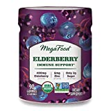 MegaFood, Elderberry Immune Support Gummies, Berry Soft Chew Supplement Vegan, 90 Gummies (45 Servings)