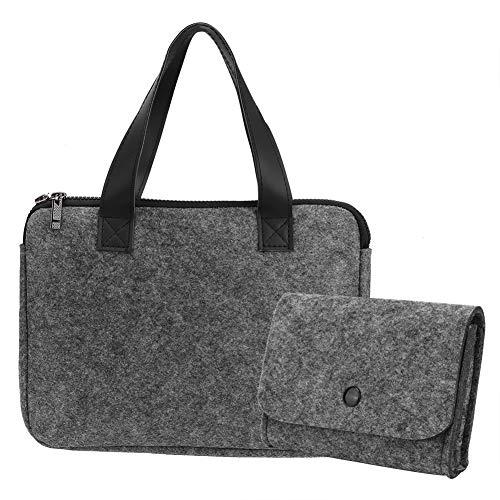 Changor Elegante Bolsa de Transporte de iPad, Bolsa de Almacenamiento Hecha de Fieltro 14 * 10 cm (Gris)
