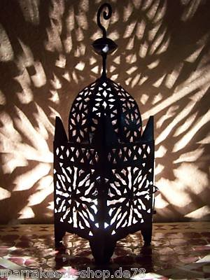 Orientales Marroquíes Árabe Mediterráneos Marruecos Farole Té luz Frane 51cm Faroles de Jardín Faroles de Hierro para Velas