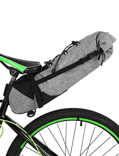 Lixada Fahrradsatteltasche 3-10L wasserdichte MTB Rennrad Satteltasche Bike Rear Tail Pack Under Seat Bag, Grau