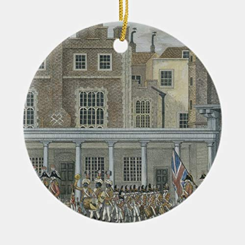 Odeletqweenry Christmas Ornament, Military Band at St. James' Palace, Late 18th Cent Ceramic Ornament, Xmas Ornaments, 3 Inch Decorating Hanging Ornaments for Christmas Party Decor Xmas Gift