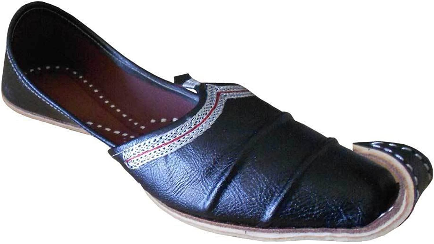 Kalra Creations Men's Traditonal Indian Faux Leather Loafer Flats shoes