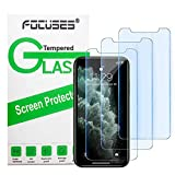 Focuses iPhone 11 Pro Screen Protector, iPhone Xs/X Screen Protector, Anti blue light Tempered Glass Film for Apple iPhone Xs/X & iPhone 11 Pro,3-Pack