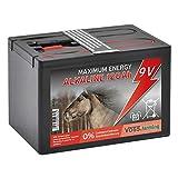 VOSS.farming Batteria 9 V Alcalina 120AH, per elettrificatori da Recinzione elettrica, Piccola