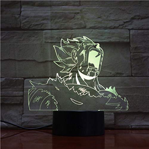 Multicolor tridimensional dragon ball 3D lámpara de mesa regalo de los niños LED colorido con control remoto efecto de luz visual LED luz nocturna | Ilusión navideña 7 cambios de color
