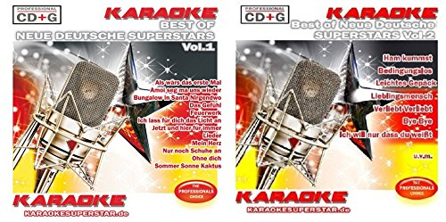 Neue Deutsche Superstars Fanset - Best of Neue Deutsche Superstars Vol. 1 + Vol.2 - CD+G