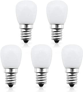 Bonlux 12V S6 LED Indicator Light Bulb E12 Candelabra Base - 1W S6 LED Appliance Bulb, 6W Incandescent Replacement Bulb Daylight 6000K for Refrigerator Fridge (5-Pack)