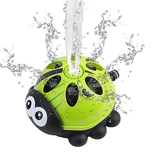 Kromini Sprinkler Kinder, Wasserspielzeug für Kinder, Wassersprinkler Spielzeug Rasensprenger für Garten Sommer Outdoor Aktivitäten, Sprinkler für Kinder ab 3 Jahren (Käfer)