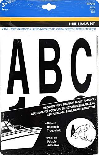 Hillman 847015 Black Die-Cut Letters/Numbers Kit, 3-Inch