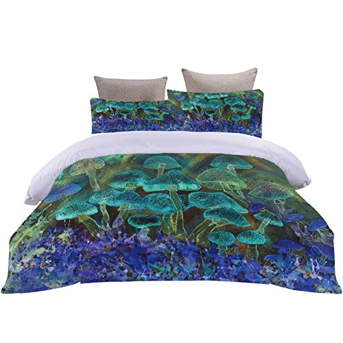 Bbaodan Printed Duvet Cover Set King Size Jungle Adventure/Malachite Green 3Pcs 100% Microfiber Hypoallergenic Ultra Soft Bedding Quilt Cover Sets Home Docor With 2 Pillowcase / 86.6 X 90.5 Inch