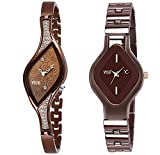 Dial Color: Brown Strap Color: Brown Strap Material: Stainless Steel Watch Movement Type: Quartz Model number: Pair-9710Cf6109Cf