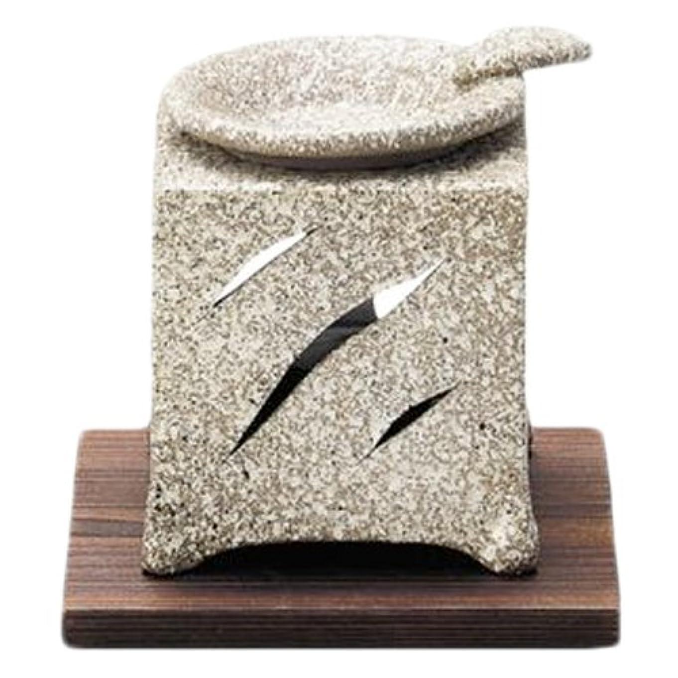 ルーフ尊敬する上に常滑焼5-261山房 石風角形茶香炉 AM-T1054