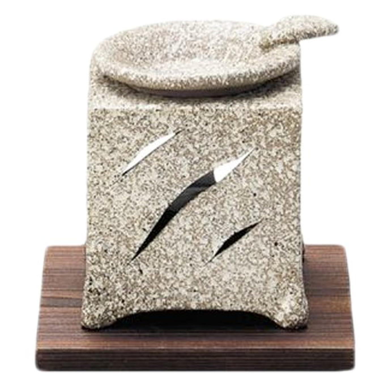 意外船酔いマトン常滑焼5-261山房 石風角形茶香炉 AM-T1054