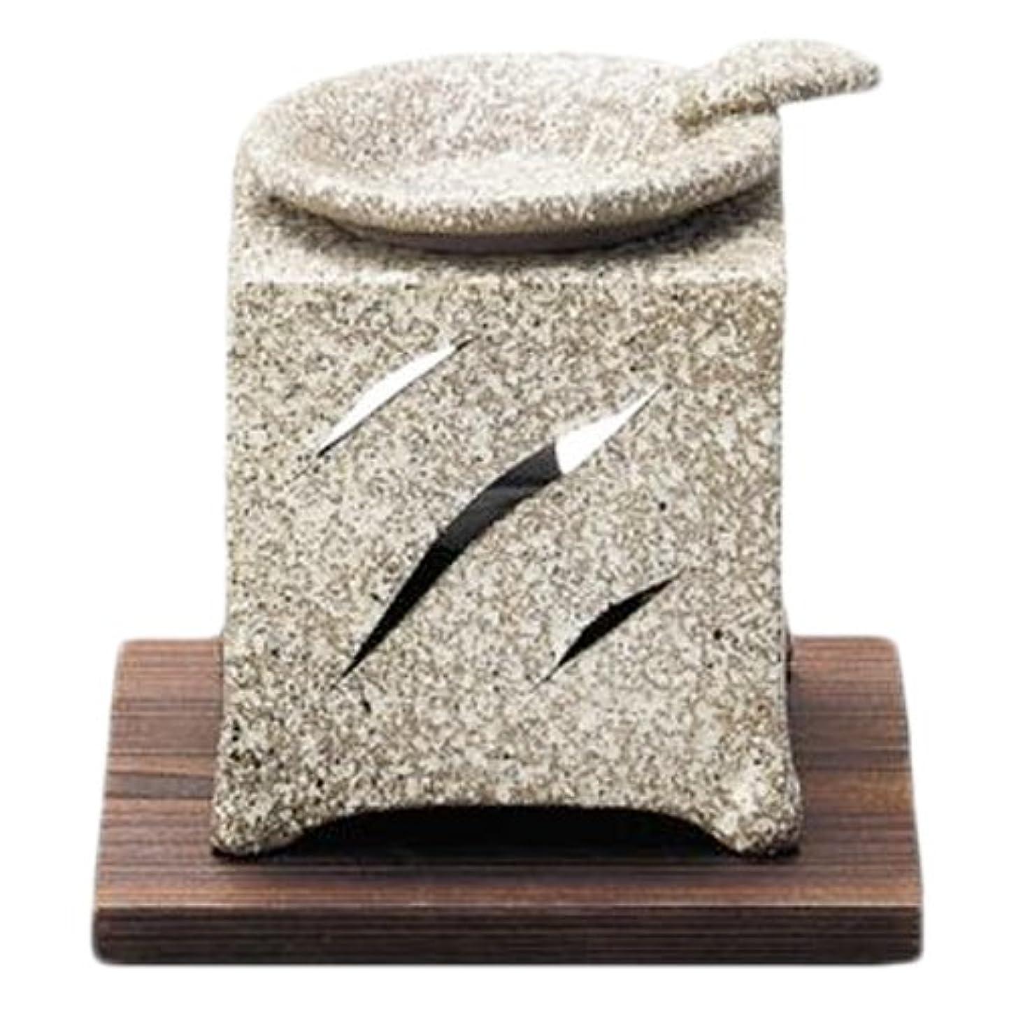 納税者時々タイトル常滑焼5-261山房 石風角形茶香炉 AM-T1054