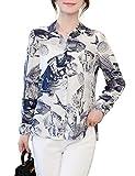 DOVWOER Elegante blusa para mujer con estampado a cuadros, manga larga, botones bajos, camisa informal para mujer, parte superior de algunos productos (DHL) dura 5-10 días. Estilo 31. 40