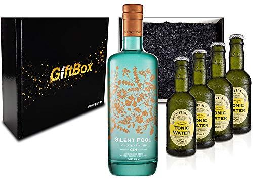 Mixcompany Gin Tonic Giftbox Geschenkset - Silent Pool Gin 0,7L 700ml (43% Vol) + 4x Fentimans Tonic Water 200ml inkl. Pfand MEHRWEG- [Enthält Sulfite]