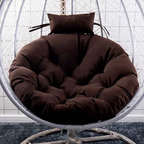 Hängematten Schaukelstuhlpolster, rundes hängendes Ei Hängematten Sitzkissen Verdicken Sie rutschfeste Sitzpolster für Korbsessel im Innen und Außenbereich (nur Kissen)